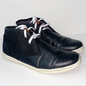 Ben Sherman High Top Sneakers, black leather